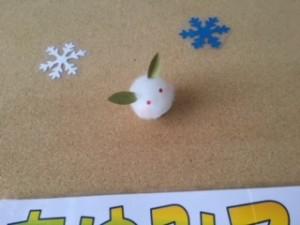 新春玄関写真ウサギ
