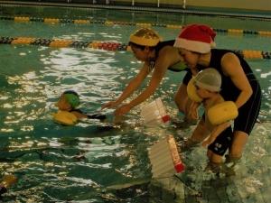 2.クリスマス会はダブル滑り台だよ。 (2)
